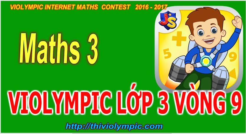 Cách làm bài Thi violympic Giải toán trên mạng Lớp 3 Vòng 8 Năm 2017